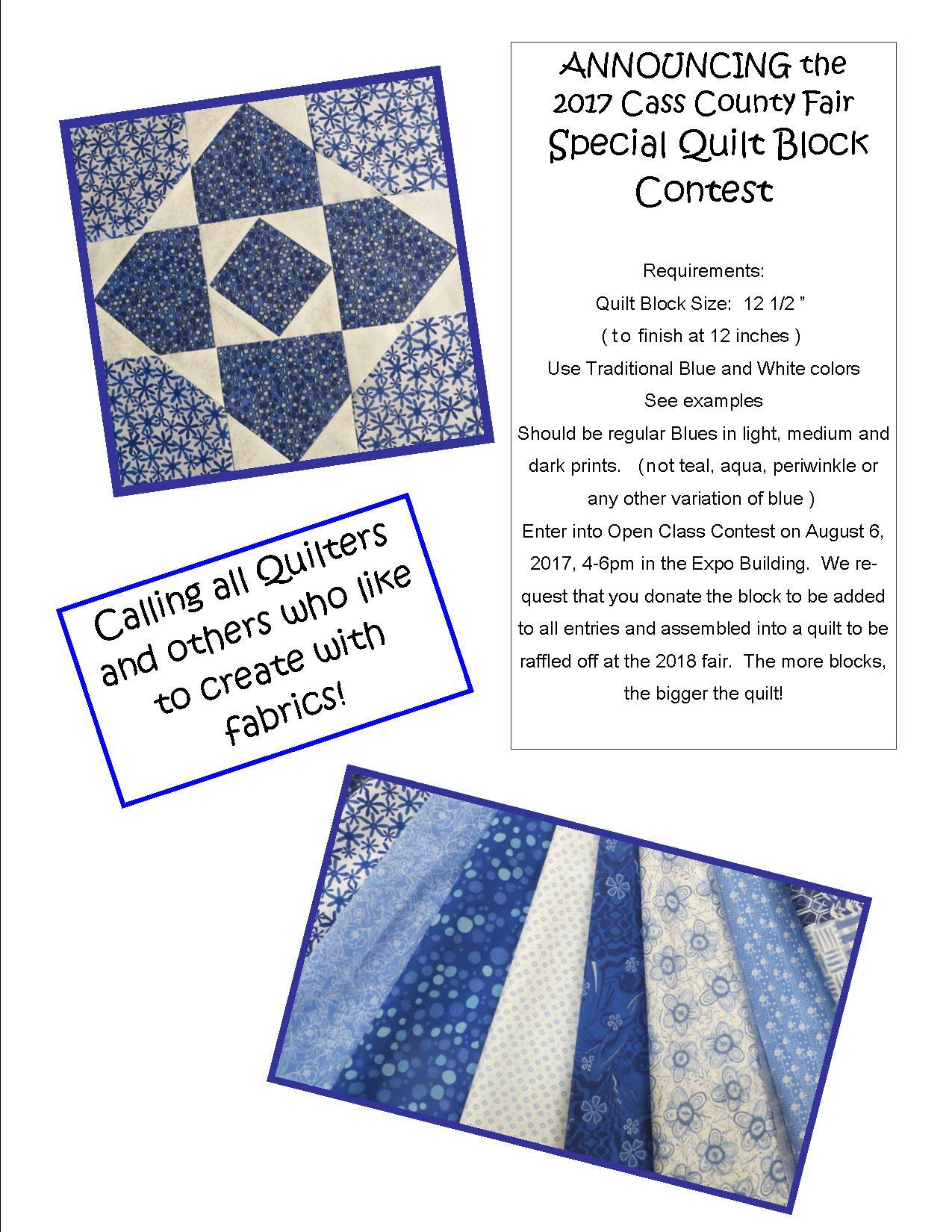 2017 Quilt Block Contest Flyer copy copy