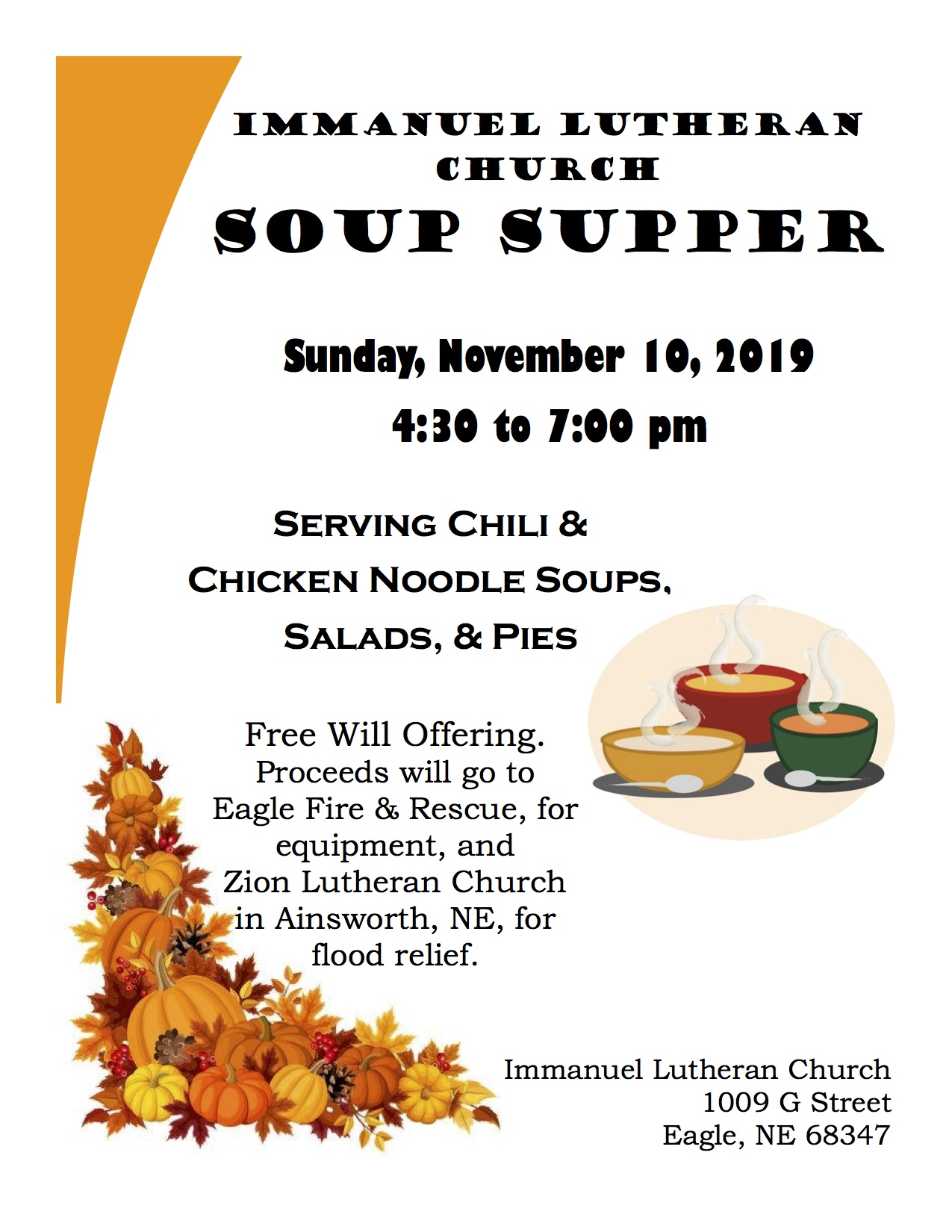 2019 Soup Supper Flyer