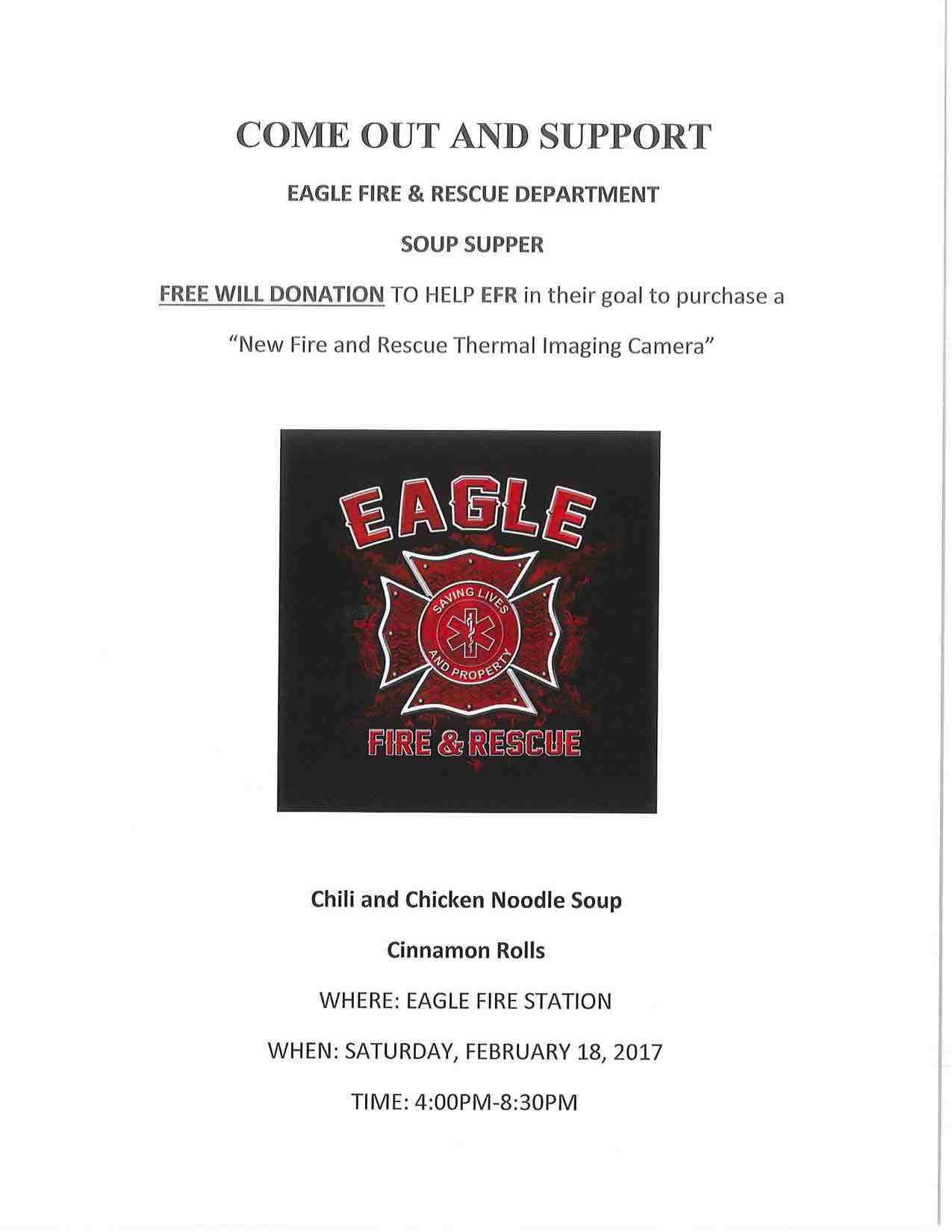 Fire and Rescue Soup Supper 2017