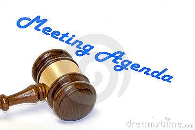 meeting agenda gavel 4612429