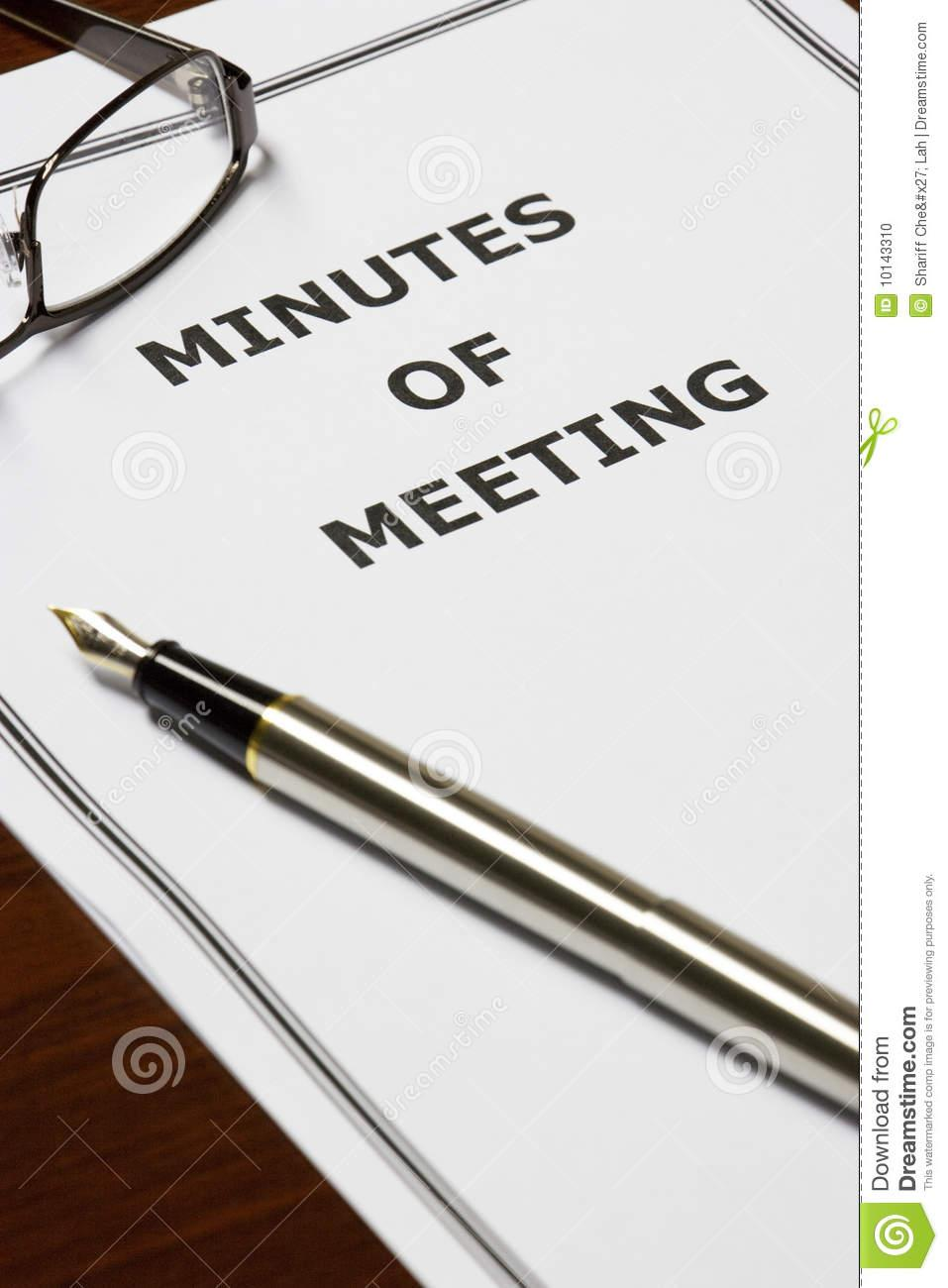 minutes meeting 10143310